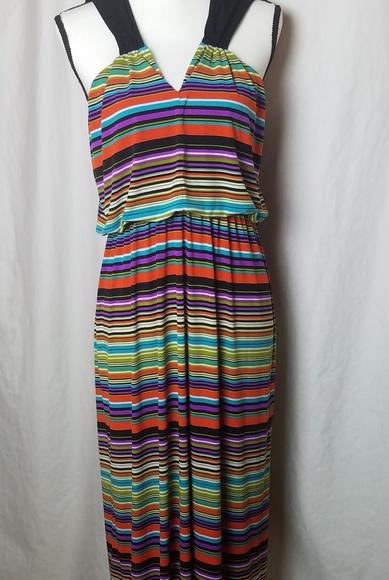 Enfocus Studio Dresses & Skirts - ENFOCUS STUDIO Multicolor Stripes Maxi Dress 14